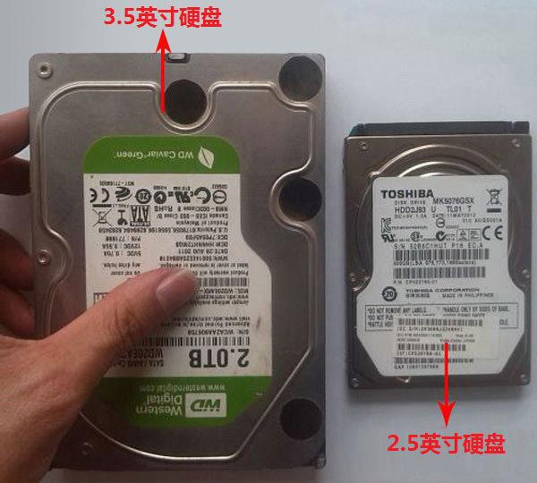 台式机硬盘与笔记本硬盘图片